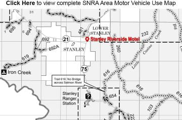 SNRA Area Motor Vehicle Use Map